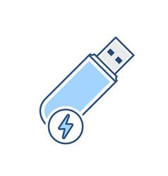 Disk drive fast flash storage usb icon vector
