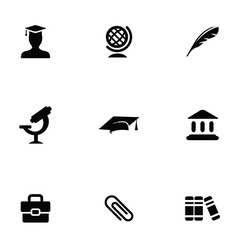 Education 9 icons set vector