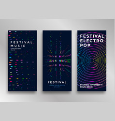 Electronic music festival vector