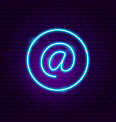 Email address neon sign vector