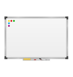 Empty whiteboard magnetic marker for vector