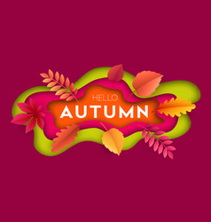 fashionable modern autumn background with bright vector image