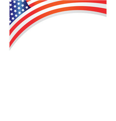 Frame with usa flag corner vector