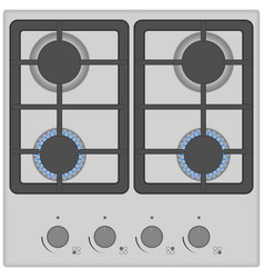 gas stove isolated on white background top view vector image