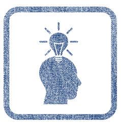 Genius bulb fabric textured icon vector