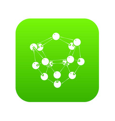 glucose icon green vector image