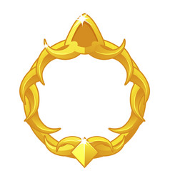 Gold game frame avatar luxury round template vector