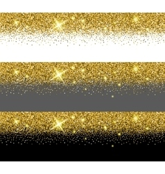 Gold glitter card templates vector