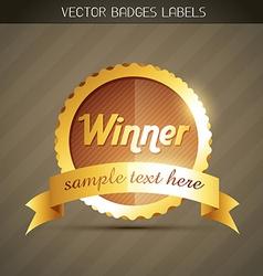 Golden winner label vector