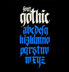 Gothic alphabet modern black calligraphic vector