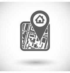 GPS map icon vector