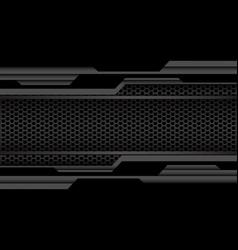 grey black geometric cyber hexagon mesh vector image