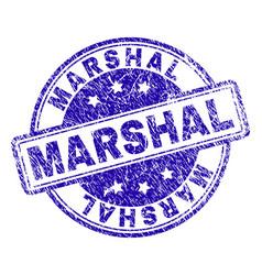 Grunge textured marshal stamp seal vector