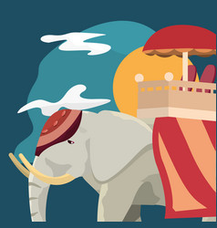 Indian elephant icon vector