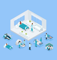 Isometric healthcare concept vector