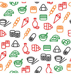 Japanese foods seamless pattern background vector