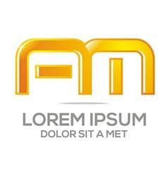 letter am alphabet vector image