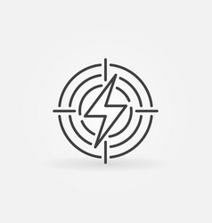 lightning in target icon vector image