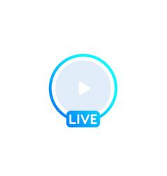 Live stream icon vector