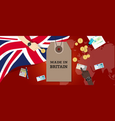 made in uk united kingdom england britain stamp vector image