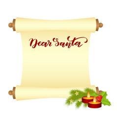manuscript dear santa vector image
