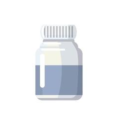 Medicine bottle icon cartoon style vector image