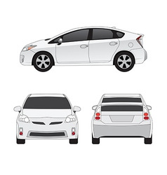 Medium size city car vector image vector image