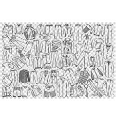 Mens shop doodle set vector