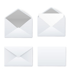 mockups set white opened and closed blank vector image