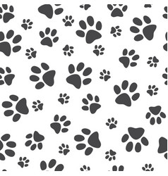 monochrome animal paw track vector image