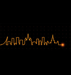 Moscow light streak skyline vector
