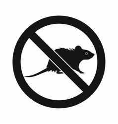 No rats sign icon simple style vector image