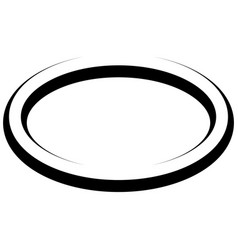Oval round banner frame elegant lines borders vector