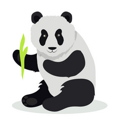 Panda cartoon flat vector