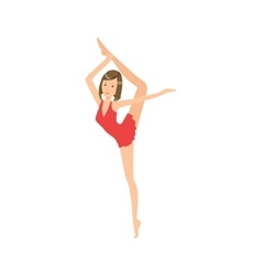 Professional Rhythmic Gymnastics Sportswoman In vector image vector image