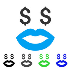 Prostitution smiley flat icon vector