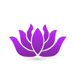 purple lotus leaf icon vector image