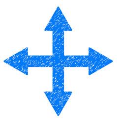 Quadro arrows grunge icon vector