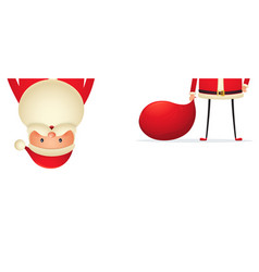 santa claus with a bag of gifts on white vector image