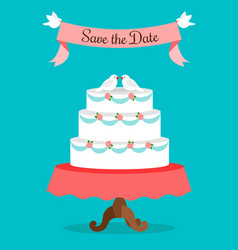 save the date greeting card template vector image