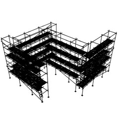 Scaffolding structure vector