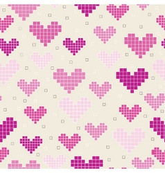 seamless patternhearts vector image