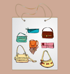 Shopping bag gift bag with the image of vector