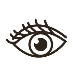 single eye icon vector image