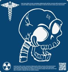Skull X ray 2 vector