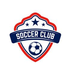 soccer football emblems design element for logo vector image