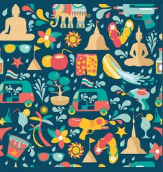songkran festival in thailand colorful seamless vector image
