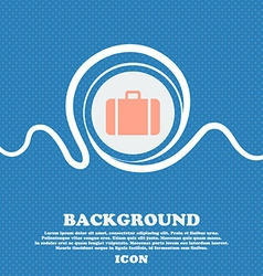 suitcase sign icon Blue and white abstract vector image
