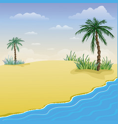 Summer beach background tropical sea and vector