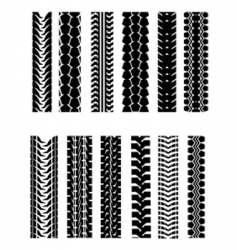 tire shapes vector image